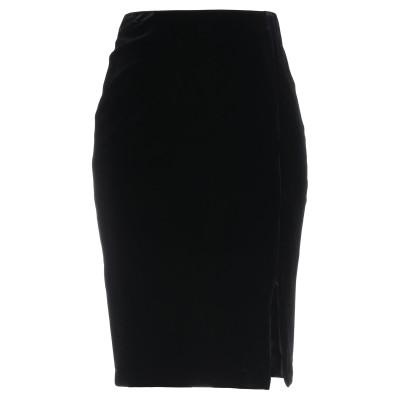 ANNE FONTAINE ひざ丈スカート ブラック 36 ポリエステル 90% / ポリウレタン 10% ひざ丈スカート