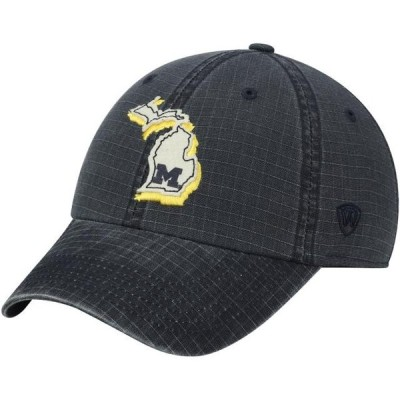 ユニセックス スポーツリーグ アメリカ大学スポーツ Michigan Wolverines Top of the World Stateline Adjustable Snapback Hat - Navy