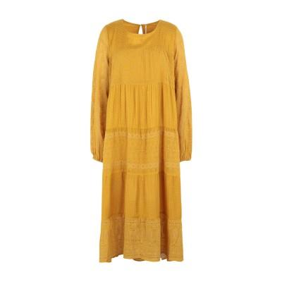 FREE PEOPLE 7分丈ワンピース・ドレス オークル XS ポリエステル 100% 7分丈ワンピース・ドレス