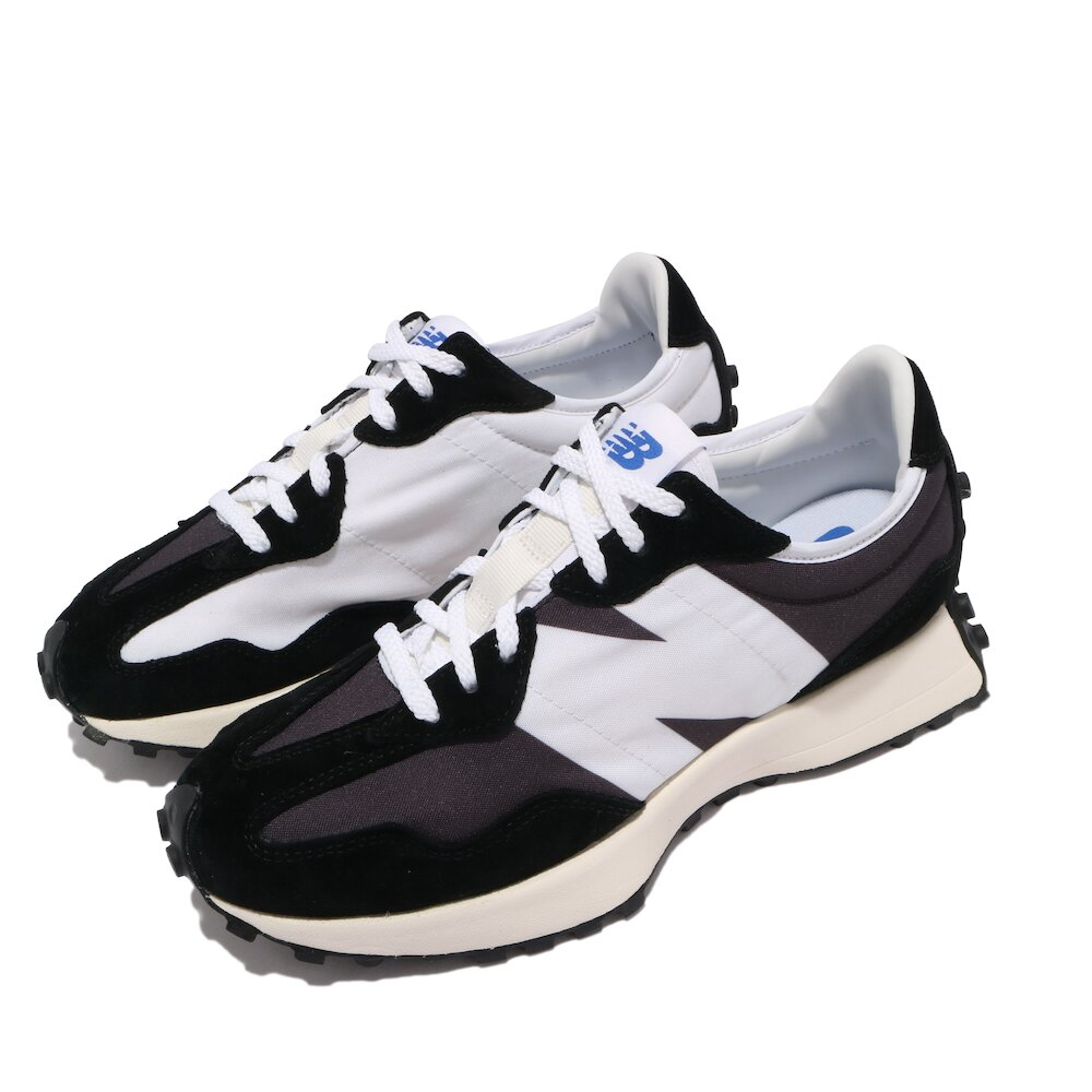 NEW BALANCE 休閒鞋 327 復古 穿搭爆款 男女鞋 紐巴倫 N字鞋 麂皮 百搭 情侶鞋 灰 白 [MS327LB1D]