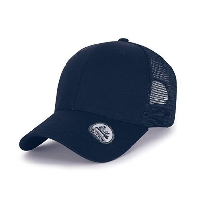 (イリリリー) ililily XL 大きいサイズ 調節可能 カーブ メッシュ帽 ベースボールキャップ ローキャップ (ballcap-1258-3)