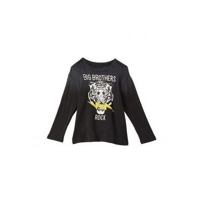 Chaser Kids 男の子用 ファッション 子供服 Tシャツ Cloud Jersey Long Sleeve Crew Neck Tee (Toddler/Little Kids) - Vintage Black