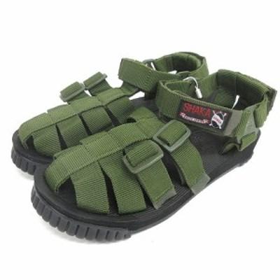 【中古】未使用品 シャカ SHAKA HIKER サンダル 26cm オリーブ 433000 210202E 靴 メンズ
