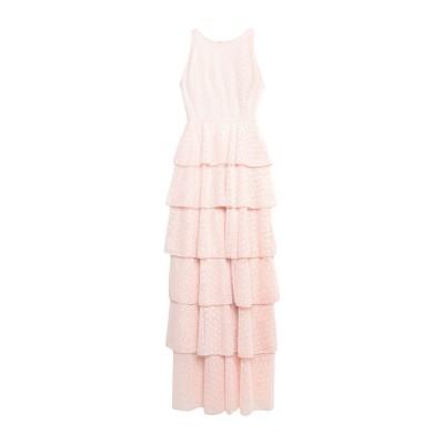 MANGANO ロングワンピース&ドレス ピンク 38 ポリエステル 100% ロングワンピース&ドレス