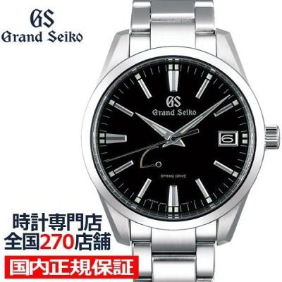 グランドセイコー スプリングドライブ 9R メンズ 腕時計 SBGA301 ブラック メタルベルト カレンダー