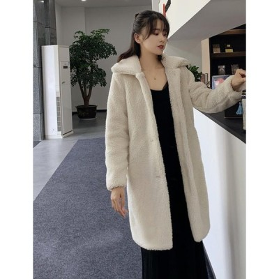 毛皮コート 上質 長袖コート 切り替え ロング丈コート おしゃれ 上着 ジャケット アウター 暖かい 冬物 レディース オフィス OL 通勤 フェイクファー 女性 防寒