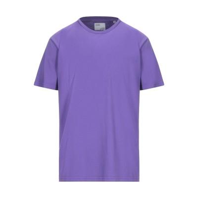 COLORFUL STANDARD T シャツ パープル M オーガニックコットン 100% T シャツ