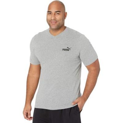 プーマ PUMA メンズ Tシャツ 大きいサイズ Vネック トップス Big & Tall Essential V-Neck Tee Medium Gray Heather