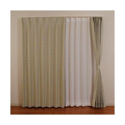 ユニベール 遮光カーテン LMカリヨン/2枚組 グレー/幅1000×高さ1000mm