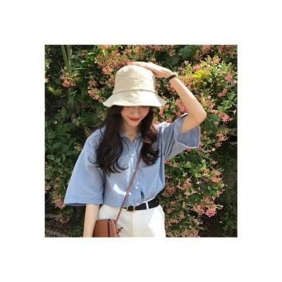 ゾエ ジェンコ Zoe Jenko オープンカラー オーバーシャツ 8277 (BLU)