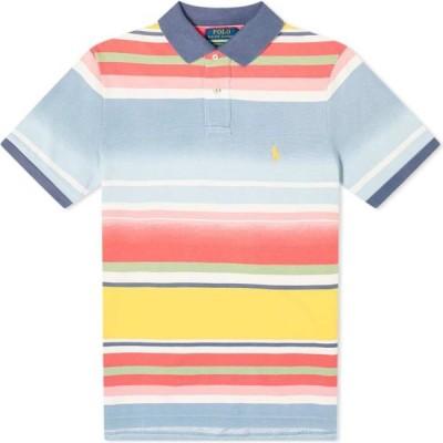ラルフ ローレン Polo Ralph Lauren メンズ ポロシャツ トップス faded stripe slim polo French Blue Multi