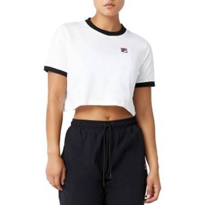 フィラ レディース シャツ トップス FILA Women's Khaleesi Tee Shirt White/Black