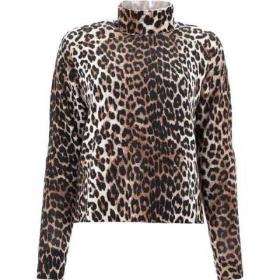 ガニー レディース ニット&セーター アウター Ganni Leopard Print Knit Sweater -