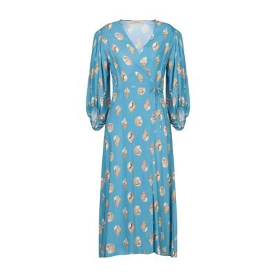 ADRIANA DEGREAS 7分丈ワンピース・ドレス アジュールブルー M レーヨン 100% 7分丈ワンピース・ドレス