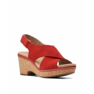 クラークス レディース サンダル シューズ Women's Collection Giselle Cove Sandals Red Suede
