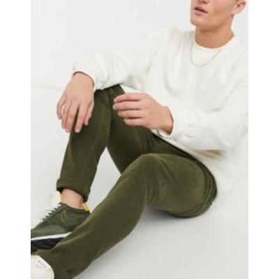 トップマン メンズ デニムパンツ ボトムス Topman skinny jeans in khaki Green