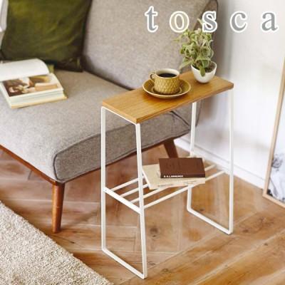 [ tosca サイドテーブル ]ミニテーブル ウッド 家具 収納 テーブル 木 リビング ソファサイド ナイトテーブル ちょい置き 飾り棚 おしゃれ 玄関 北欧
