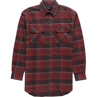 ストイック Stoic メンズ シャツ ネルシャツ トップス Heavyweight Plaid Flannel Shirt Red