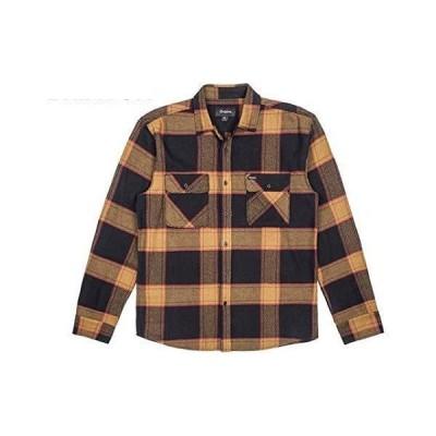 Brixton Bowery L/S Flannel Shirt Black/Gold S ネルシャツ 送料無料