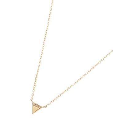 COCOSHNIK / ココシュニック ダイヤモンド ジオメモチーフ トライアングル ネックレス