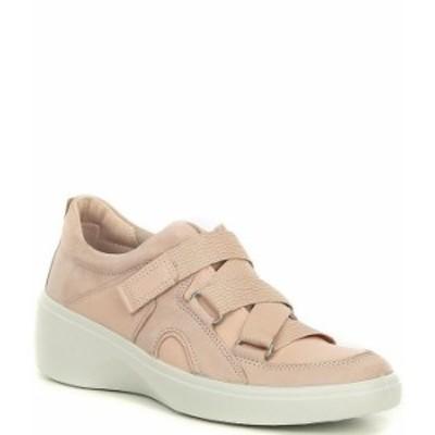 エコー レディース スニーカー シューズ Soft 7 Wedge Strap Sneakers Rose Dust/Rose Dust