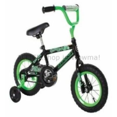 BMX 少年の12インチバイクグリーン/ブラックビギナーズ自転車トレーニングホイールBMXキッズライド  Boy's 12 inc