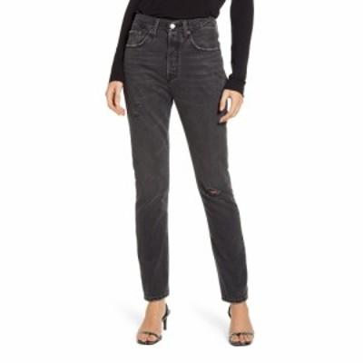 リーバイス LEVIS レディース ジーンズ・デニム リップドジーンズ ボトムス・パンツ 501 High Waist Ripped Skinny Jeans Black Mail