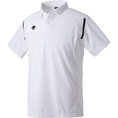 【送料290円】デサント ポロシャツ DTM−4000 ホワイト DESCENTE DTM4000 WHT