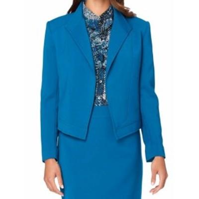 Tahari タハリ ファッション 衣類 Tahari By ASL NEW Gotham Blue Womens Size 2 Wing Collar Seamed Jacket