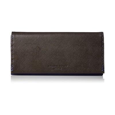 キャサリンハムネットロンドン 財布 カラーテーラード メンズ ブラック×ネイビー