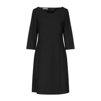 CARACTÈRE ミニワンピース&ドレス ブラック 42 ポリエステル 63% / レーヨン 27% / コットン 7% / ポリウレタン 3%