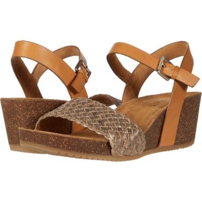 コンフォーティヴァ Comfortiva レディース サンダル・ミュール シューズ・靴 Eshana Gold/Luggage Fleshout Foil/M-Vege