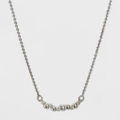 ニューデイ A New Day レディース ネックレス ジュエリー・アクセサリー Cubic Zirconia Bar Necklace - Silver