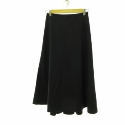 【中古】ドレステリア DRESSTERIOR ロングスカート フレア 紺 36 *E497 レディース