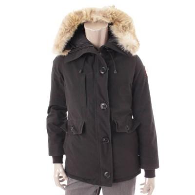 【カナダグース】CANADA GOOSE シャーロット ファーフード ダウンジャケット コート 2300JL ブラック S 【中古】【正規品保証】109885