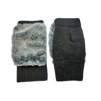 MC(エムシー) レディース手袋 モコモコ 暖かい スマホ対応 可愛い プレゼント (ブラック)