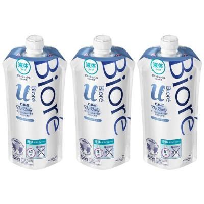 (3個セット)ビオレu ザボディ 液体タイプ ピュアリーサボン つめかえ用 340ml 花王株式会社 (D)
