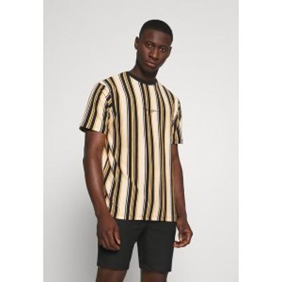 メンナス メンズ Tシャツ トップス MULTI VERTICAL STRIPE - Print T-shirt - orange orange