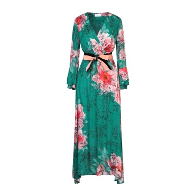 SOALLURE ロングワンピース&ドレス グリーン 38 レーヨン 100% ロングワンピース&ドレス