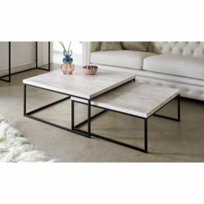 家具 収納 テーブル 机 ネストテーブル Marbrim/マーブリム 大理石調テーブルシリーズ ネストセンターテーブル H89517