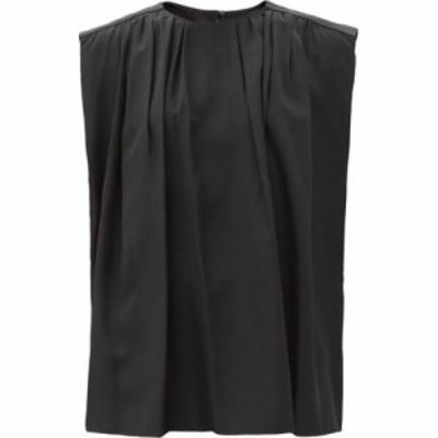 ジョゼフ Joseph レディース ブラウス・シャツ トップス Blakey pleated silk-crepe blouse Black