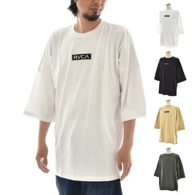 ルーカ ルカ RVCA Tシャツ ロゴ ボックスロゴ 半袖Tシャツ IN BROOM BOX RVCA SS ビッグシルエット メンズ レディース ブランド 白 黒 ベージュ BA041218
