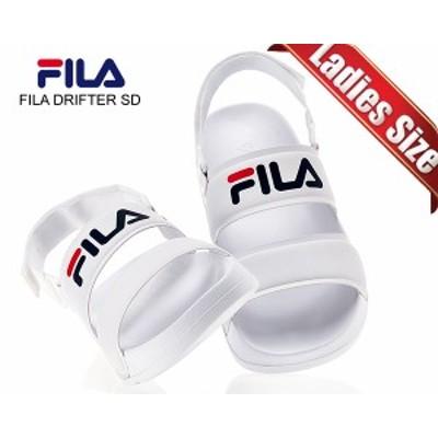 【フィラ ドリフター レディース サンダル】FILA DRIFTER SD WHITE fs1sib2001x-wwt ホワイト スポーツサンダル ストラップサンダル