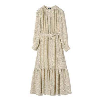【シップス/SHIPS】 フラワープリント羽織ワンピース white
