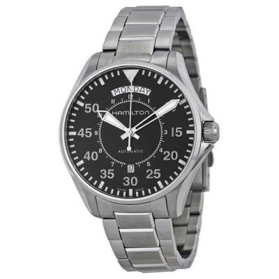 ハミルトン 腕時計 Hamilton Pilot Day Date デイデイト Automatic Black Dial メンズ Watch H64615135