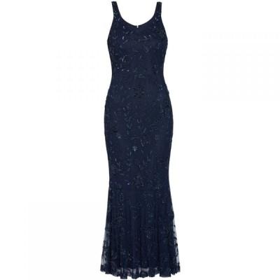 ジーナ バッコーニ Gina Bacconi レディース ワンピース ワンピース・ドレス Zaina Beaded Maxi Dress Navy