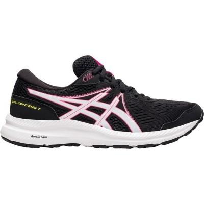 アシックス シューズ レディース ランニング ASICS Women's GEL-CONTEND 7 Running Shoes Black/Hot Pink