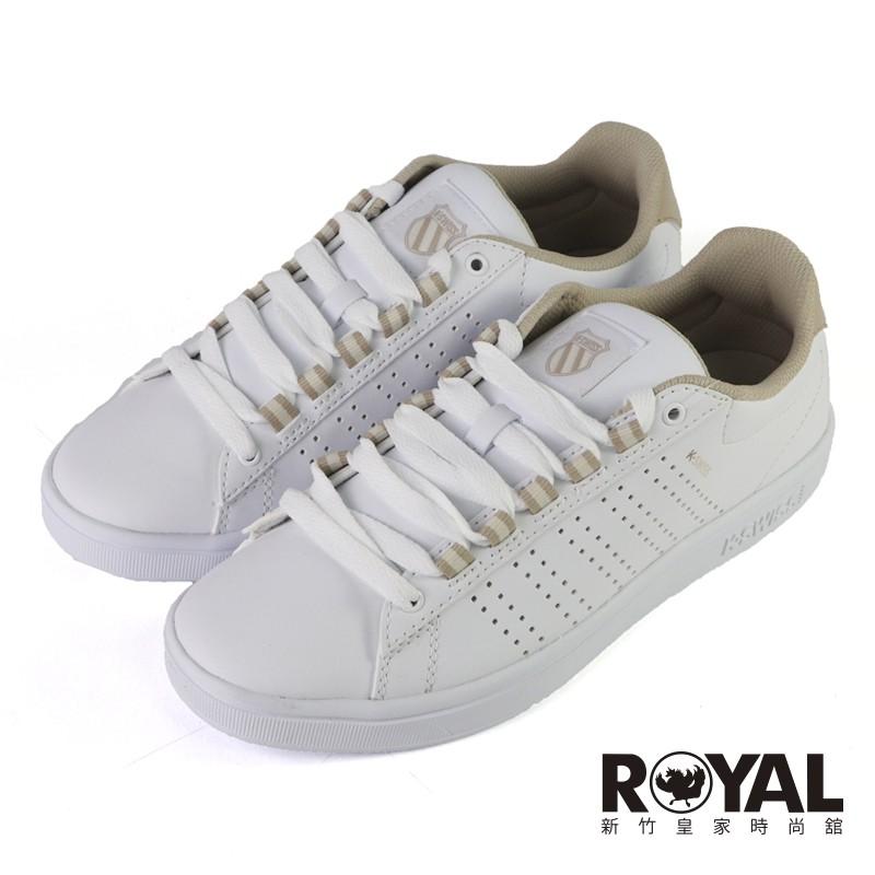 K-swiss Casper II S 白米粉 皮質 休閒鞋 女款 NO.J0816【新竹皇家 96975-131】