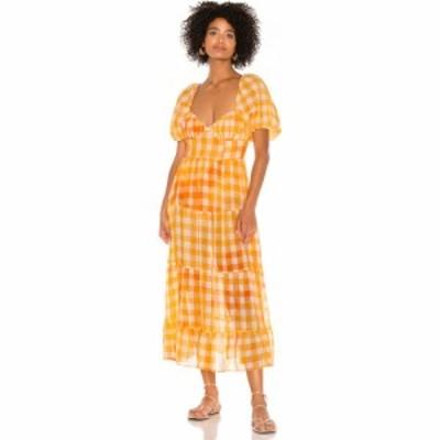 フォーラブアンドレモン For Love and Lemons レディース ワンピース マキシ丈 ワンピース・ドレス Mimosa Maxi Dress Orange