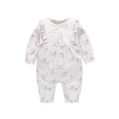 Baby nest ベビー服 女の子 長袖 カバーオール ロンパース 綿100% 前開き 長袖ボディオール 着替え便利 柔らかい 新生児服